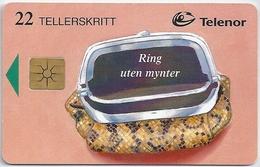 Norway - Telenor - Slange Pung - N-081C (Chip Gem1Bc Yellow), 08.1996, 60.000ex, Used - Noruega