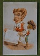 Série Personnage à Grosses Têtes - Ensemble De 6 Chromos - B. FREY à Créteil - Imp. Vleeschouwer Vers 1880 - Kaufmanns- Und Zigarettenbilder