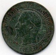France - 10 Centimes 1853 D - Napoléon III Empereur - Lyon - France