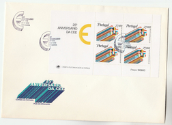 1982 PORTUGAL  FDC MINIATURE SHEET Stamps CEE EUROPE  Cover European Community - FDC