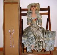 Rare Poupée De Salon De Style Année 1920 De Grande Taille ( 86 Cm ) En Boite - Autres Collections