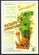 Carte Postale : Illustration Dubout (cinéma Affiche Film) Ma Tante D'Honfleur (Train) - Affiches Sur Carte