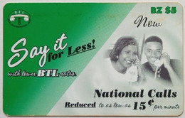 Belize Phonecard $5 Say It For Less - Belize