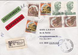Eil-R-Brief 1981 Von Torino Nach Zürich (br0067) - 6. 1946-.. Republic