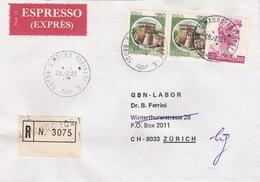 Eil-R-Brief 1981 Von S. Mauro Torinese Nach Zürich (br0069) - 6. 1946-.. Republic