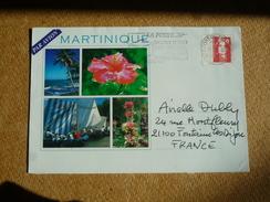 Martinique Enveloppe Oblitération Flamme Fort De France Courrier Et Colis Mieux Distribués Dans Boîte Normalisée
