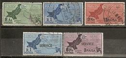 Pakistan 1960 Carte Map Obl - Pakistán