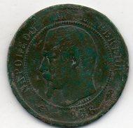 France - 10 Centimes 1856 B - Napoléon III Empereur - Rouen - France