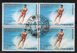 BARBADOS  Scott # 360 VF USED Block Of 4 - Barbados (1966-...)