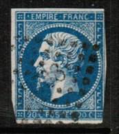 FRANCE  Scott # 15 VG-F USED - 1853-1860 Napoleon III