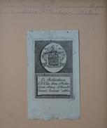 Ex-libris Héraldique Belge  XVIIIème - Du TRIEU (G.F.J.) Chanoine De La Cathédrale St Rombauld, à Malines - Ex Libris
