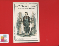 MACHINE A COUDRE NEW HOME GREVIN  HUMOUR NOS GENS DOMESTIQUE FEU CHEMINEE  BEAU VERSO - Trade Cards