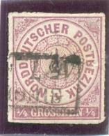 1868 CONF. ALL. Du NORD Y & T N° 1 ( 0 ) 1/4 Lilas - Norddeutscher Postbezirk (Confederazione Germ. Del Nord)