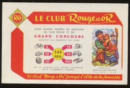 Buvard - Rouge Et OR - Buvards, Protège-cahiers Illustrés