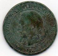 France - 10 Centimes 1855 D - Napoléon III Empereur - Lyon - France