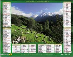 CALENDRIER ALMANACH DES PTT 2012 VALLEE DU LOURON ( MOUTONS ) - Calendarios