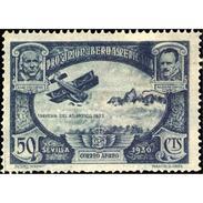 ES587STV-LFT***587STEAE.Spain.Esgane.AVION,Pro Union IBEROAMERICANA AEREA.Avion.Travesia Del Atlantico.1930 (Ed 587**) - Nuevos & Fijasellos