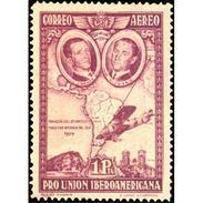 ES590STV-LFT***590STEAE.Spain.Esgane.AVION,Pro Union IBEROAMERICANA AEREA.Avion.Travesia Del Atlantico.1930 (Ed 590**) - Aéreo