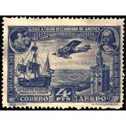 ES591STV-LFT***591STEAE.Spain.Esgane.AVION,Pro Union IBEROAMERICANA AEREA.Avion.Travesia Del Atlantico.1930 (Ed 591**) - Aéreo