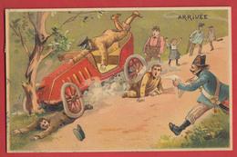 Course Automobile Année 1905 L'arrivée Illustrateur ;  2 Scans . - Altri