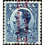 ES600STV-LFT***600STCFR.Spain.Esgane.,Rey ALFONSO Xlll,sobrecargado Republica Española.1931 (Ed 600**) - Familias Reales
