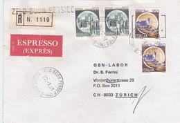 Eil-R-Brief 1981 Von Zelo Buon Persico (MI) Nach Zürich (br0074) - 6. 1946-.. Republic