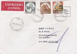 Eil-Brief 1981 Von Livorno Nach Zürich (br0079) - 6. 1946-.. Republic