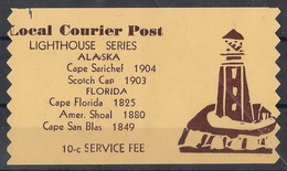 USA Modern Local Post  - Local Courier Post - Lighthouse Series - Alaska - Etats-Unis
