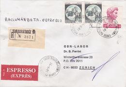 Eil-R-Brief 1981 Von Imperia Nach Zürich (br0084) - 6. 1946-.. Republic