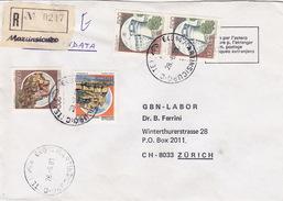 R-Brief 1981 Von Martinsicuro (TE) Nach Zürich (br0085) - 6. 1946-.. Republic