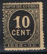 Sello 10 Cts Cifras 1898, Impuesto De Guerra,  Edifil Num 237 * - Impuestos De Guerra