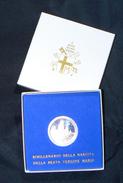 [NC] VATICANO BIMILLENARIO MARIA 500 LIRE ARGENTO PROOF 1984 CONF. ORIGINALE - Vaticano