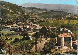Jaujac (Ardèche) - Vue Générale, Le Château Du Bruget Et Les Chaînes Du Coiron - Ed. Combier - Carte CIM Colorisée - France