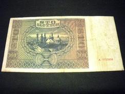 POLOGNE 100 Zlotych 01/08/1941 , Pick N° 103 , POLAND - Polen