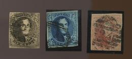 6-7-8   De Belgique 4 Marges - 1851-1857 Medallions (6/8)