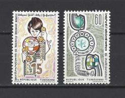 TUNISIE . YT  776/777  Neuf **  Téléphone Automatique International  1974 - Tunisia (1956-...)