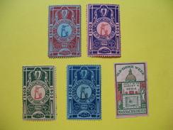 Vignette ; Lot De Vignette   Old -Home Week 1904  Massachusetts (Voir) - Cinderellas
