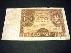 POLOGNE 100 Zlotych 09/11/1934 , Pick N° 75 A , POLAND - Polen