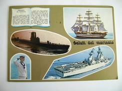 NAVE  VESPUCCI  VELIERO     TARANTO    MARINA  MILITARE  WARSHIP  Submarine  SOTTOMARINO   VIAGGIATA COME DA FOTO - Guerra