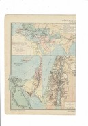 """2 Cartes XIX Intitulées """"Géographie Sacrée"""" Palestine-Terre Sainte-Terre De Chanaan-Royaume De Juda Et D'Israël Etc ... - Geographical Maps"""