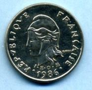 1986  10 FRANCS - Nuova Caledonia
