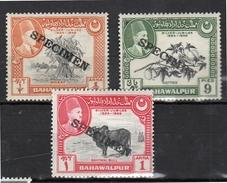 Bahawalapur MH Specimen 3 Stamps (b61) - Bahawalpur