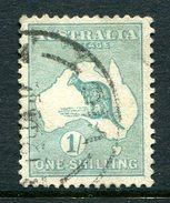 Australia 1915 KGV Roos (2nd Wmk.) - 1/- Blue-green - Die II - Used (SG 28) - Used Stamps