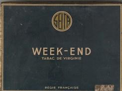 BOITE FER TABAC DE VIRGINIE WEEK END SEITA - Boites à Tabac Vides