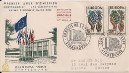 1957 FRANKREICH Mi.  1157-8  FDC  / Strasbourg - Europa-CEPT