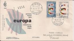 1957 Italien Mi.  992-3 FDC - Europa-CEPT