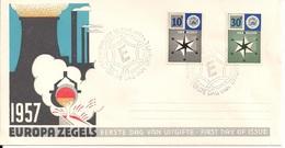 1957 Niederlande Mi. 704-5 FDC - Europa-CEPT