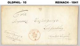 1841, Lettre De REINACH