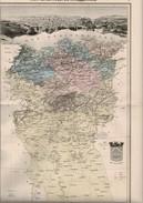 """1883 Carte Géographique """" Province Ou Département De CONSTANTINE"""" + Fiche Double Documentaire - Cartes Géographiques"""