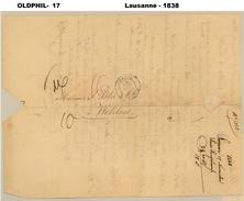 1838, Lettre De LAUSANNE